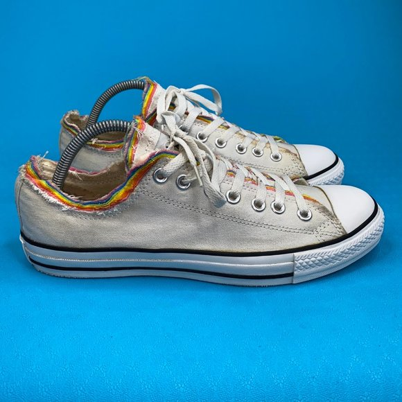 Converse Unisex Adult White All Star Lace Up Low Top Sneaker Shoes Size M9 W11